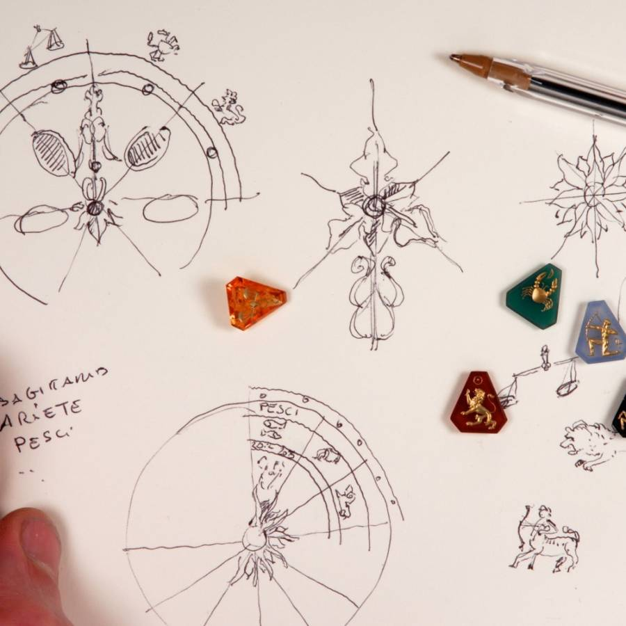 Disegni e gioielli per Zodiaco
