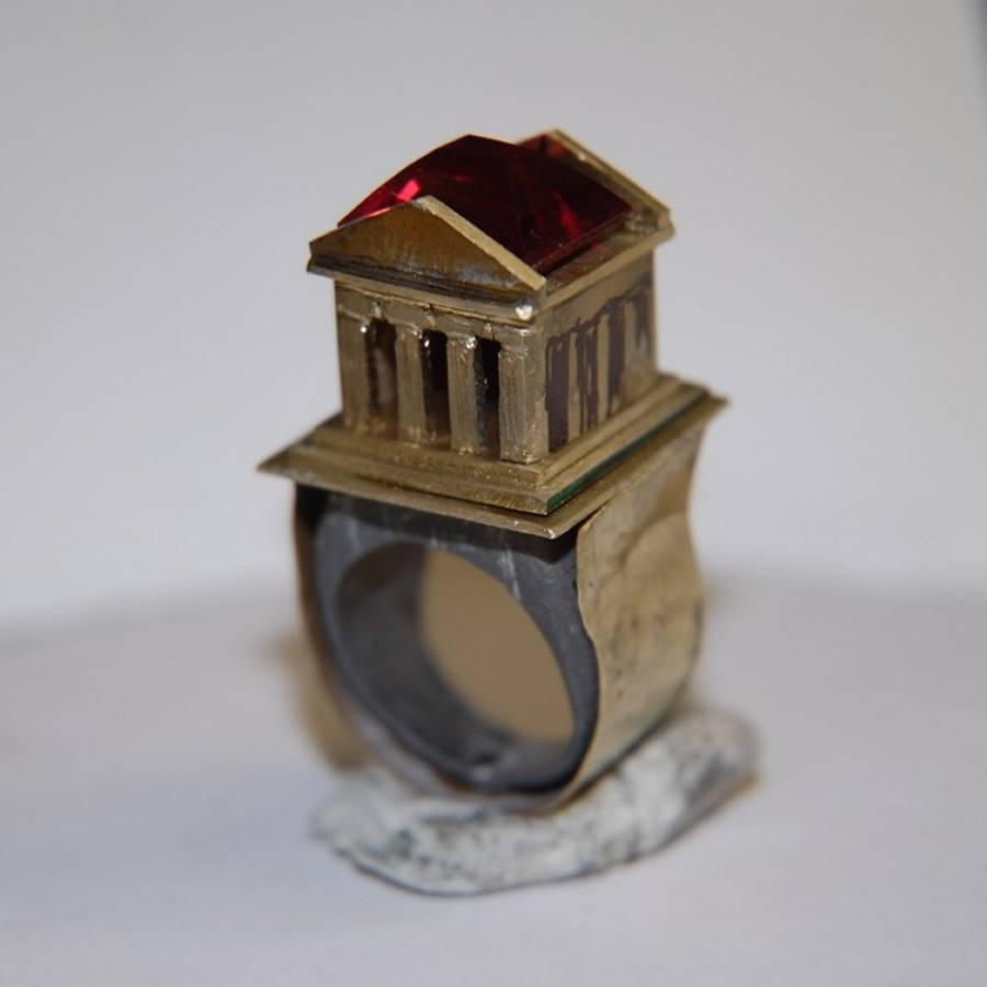 Prototipo per richiesta di anello con tempio greco